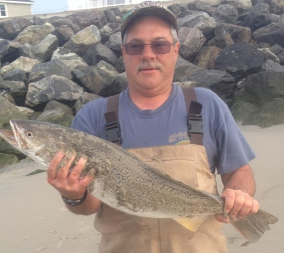 Cj with a spring tide runner weakfish
