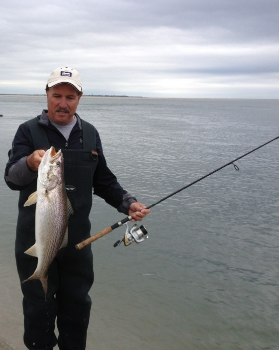 Bill with a nice size weakfish