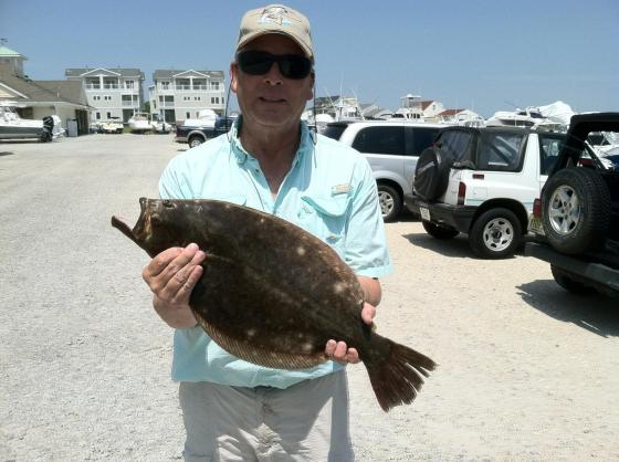 Captain Gary with his 6.5  pound summer flounder