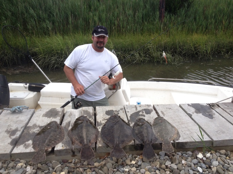 July flounder fishing in the cape may sounds ken 39 s dock for Fluke fishing nj