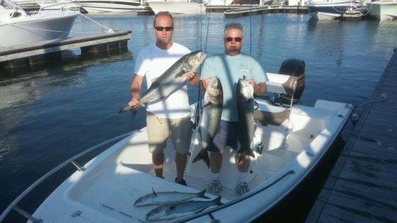 Mark and CJ  show  today's catch